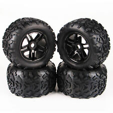 For TRAXXAS Summit HPI 4Pcs RC 1:8 Monster Truck Bigfoot Tires Rubber Tyre Wheel