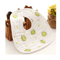 Cotton Baby Bibs Bandanna Soft Infant Feeding Burp Cloths Saliva Towels shan