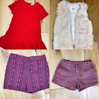 Zara Monsoon Gap Girls Winter Bundle Red Pink Shorts Dress Fur Gilet Smart Casua