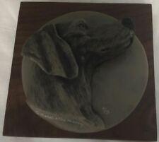 Ralph Massey Weimaraner Plaque # 9 of 75 - Lot Misc 7