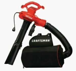 Craftsman 12-Amp 450-CFM 260-MPH Corded Electric Leaf Blower Vacuum Kit Included