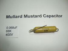 MULLARD MUSTARD CAPACITOR. 0.068uF 68K 400V 10% *1PC* HIFI. + RC1