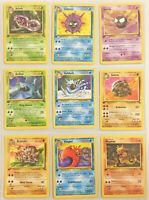 Pokemon Cards - 1st Edition Fossil Set (Uncommon/Common) - Near Mint - 32 Cards