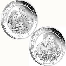 HRH Princess Charlotte & Prince George 1oz Silver Proof Coin Perth Mint .999