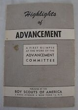 Vintage 1951 Highlights of Advancement Booklet Boy Scouts America BSA Committee