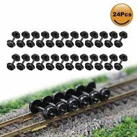 "24pcs N Scale POM Plastic 33'' Wheels for Model Train 1:150 33"" Wheel set HP28N"