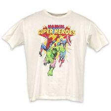 Junk Food Marvel Super Heroes The Hulk Spiderman & Captain America T Shirt 2Xl
