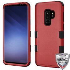 Natural Red Black TUFF Hybrid Phone Cover SAMSUNG Galaxy S9 Plus