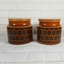 Hornsea Pottery Vintage 1970s Heirloom Large Storage Jars (pair)