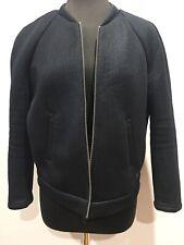 Rare G-Star Raw Designer Vintage Space Age Womens Black Bomber Jacket Size Large