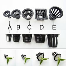 10pcs Mesh Pot Net Cup Basket Hydroponic Aeroponic Plant Grow Clone Kit Hanging