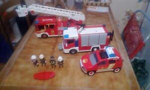 lot camion pompier playmobil