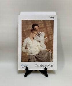 "Knitting Pattern - Lister 5428 -Unisex Aran V Neck Cardigan- 32/48"" Chest - Aran"