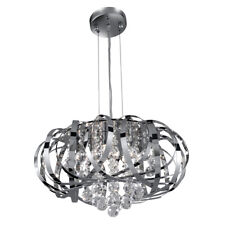 Searchlight 6975-5CC Tilly Chrome 5 Light Fitting With Clear Crystal Balls