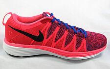 Nike Flyknit Lunar 2 Punzone/Blu/Rosso Tessile Scarpe Da Ginnastica Corsa Uk 8.5/43