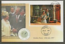 1997 TANZANIA GOLDEN WEDDING ANNIVERSARY MINIATURE SHEET FDC  PERF