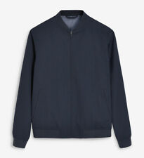 Next Tailoring Navy Blue Bomber Jacket. Slim Fit. Size XL. New without Tags