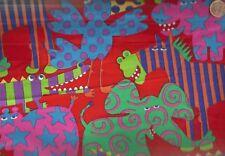 Animals Gone Wild red Nancy Wolff  fabric