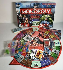 HASBRO MONOPOLY MARVEL AVENGERS BOARD GAME SEALED TOKENS & MARKERS COMPLETE