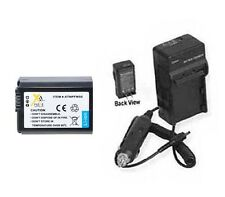 Battery + Charger for Sony NEX-3D NEX-3CH NEX-3H NEX-3CK NEX-3K NEX3A/B NEX6L/B