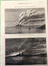The Eruption of mount VESUVIUS CAPRI NAPOLI  da the Illustrated London News 1872