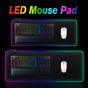 🔥 Extended RGB Colorful LED Lighting Gaming Keypad Mouse Pad Mat for PC Laptop