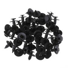 50 Pcs Black Car Door Fender Trunk Fastener Panel Clips Rivet 6mm Hole For Mazda