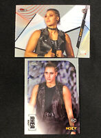2020 Topps WWE Chrome Rhea Ripley RC Rookie Card & Finest Rookie Card Lot OF (2)