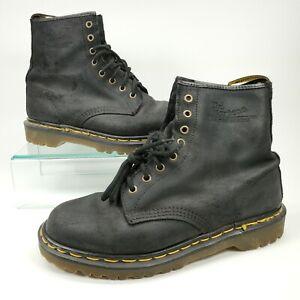 Dr. Doc Martens Boots 8-Eye Black Made in England Mens Size 9 US - 8 UK Men