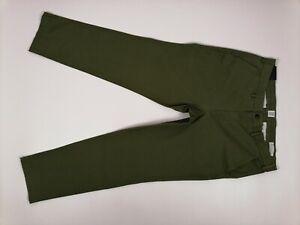 Mens Gap Khaki Chino Trousers (V/700081671) W36 L30 Slim Fit Stretch Green BNWT