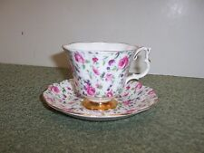 VTG Royal Albert Tea Cup and Saucer Set Pink Floral Chintz