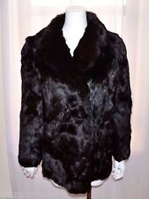 Brown Real Genuine Rabbit Fur Coat Jacket size Medium M No Monogram NEW