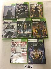 Batman-HALO-Gears of War-Battlefield-Ghost Recon (Lot of 8) Xbox 360  #X-157