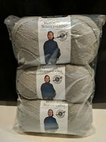 3 Skeins Loops & Threads Woolike Yarn Color Cool Gray #2 3.5 oz 100g  678 yd NEW