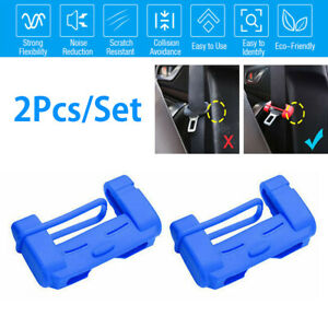 2x Seat Belt Buckle Silicone Cover Clip Protective Case Anti-Scratch Accessories