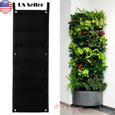 6 Pocket outdoor Vertical Greening Hanging Wall Garden Plant Bags Wall Planter