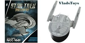 Star Trek Discovery Federation USS Clarke NCC-1661 Issue #9 w/booklet Eaglemoss