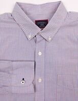 UNTUCKit Shirt Large Mens Blue Red Plaid Slim Fit 100% Cotton Casual Button Down