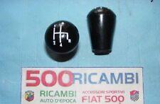 FIAT 500 F/L/R 126 POMELLO LEVA CAMBIO NERO CON NUMERO 4 MARCE INCISE + R UNICO