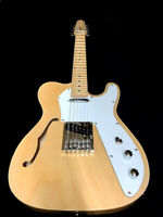 NEW 12 STRING TELE STYLE SEMI HOLLOW NATURAL FINISH MAPLE TOP ELECTRIC GUITAR