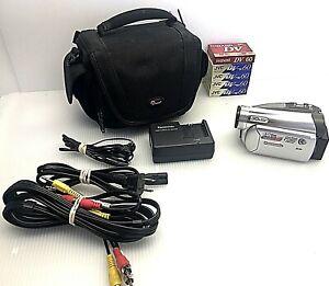 Panasonic PV-GS59 Mini DV Camcorder Working MiniDV w/Accessories Excellent