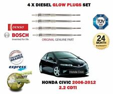 FOR HONDA CIVIC 2.2 CDTI N22A2 2006-2012 NEW DIESEL 4X GLOW PLUGS SET