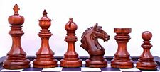 """Patras Series Staunton 4"""" Chess Pieces in African Padouk and Box Wood"""