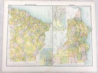 1898 Map Of Australia Victoria Neu South Wales Bartholomew Antik Original