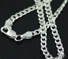 925 Sterling Silver Plated 4MM 20 Inches Chain Men Figaro Necklace Fashion Nice