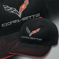2014-2019 Corvette Red Trimmed Premium Structured Hat with Logo & Script 686707
