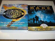 Survivor + Amazing Race DVD CBS TV reality boardgame lot family Mattel Pressman