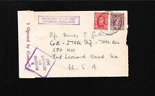 Australia Wwii Melbourne 1940 Censor #387 Auxiliary Violet Army Concession 1u