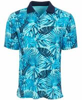 Attack Life by Greg Norman Men's Tropical-Print Polo Blue