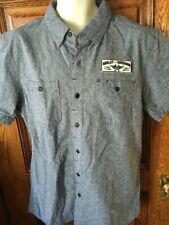 Men/'s Harley Davidson Unique 100/% Cotton Twill Shirt w//Coating Slim Fit XL